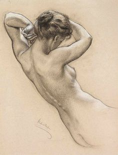 artemisdreaming: Study for a Water Nymph in Prospero Summoning Nymphs and Deities (reblog) Herbert James Draper