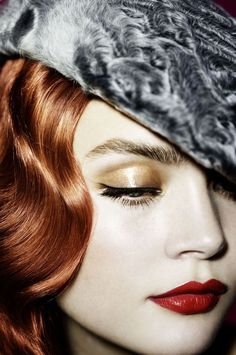 Gold Eye, Red Lips - photography by Signe Vilstrup for Elle  This is soooo beautiful : )