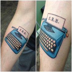 26 Amazing Typewriter Tattoos That Will Inspire You To Write