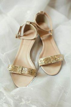 gold glitter heels   Sarah Kate Studios
