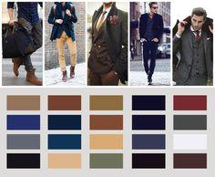 Men's fashion colors - Ultimate Designer's Color Guide for 2017 - Tim Brown