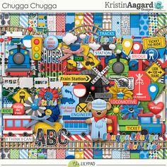 Chugga Chugga by Kristin Aagard at TLP. #digiscrap #digiscrapbook #digiscrapbookkit