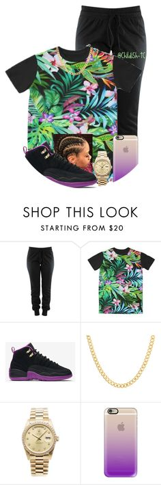 """""""🌺🍃🌷"""" by childish-tc ❤ liked on Polyvore featuring NIKE, Sterling Essentials, Rolex and Casetify"""