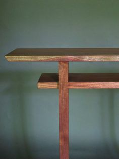 Love The Rolling Hill Of Color On The Front Edge Of This Walnut Hall Table