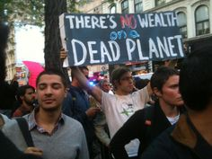 There's no wealth on a dead planet.