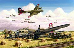artillery world war 2 - Bing Images Ww2 Aircraft, Military Aircraft, Military Art, Military History, Aircraft Painting, Airplane Art, Military Pictures, Aircraft Pictures, Aviation Art