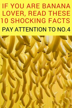 Banana is one of the healthiest fruits on the planet. For one thing, this tropical fruit is a real storehouse of minerals and vitamins, which boost your health on many different levels. Read these 10 shocking facts about bananas! Banana nutrition | Bananas | Banana health benefits | Nutritional value of banana #banananutrition #bananas #bananahealthbenefits #nutritionalvalueofbanana