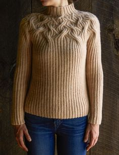 Botanical Yoke Pullover Pattern I would love to knit something like this one day (and also have the figure to wear it)