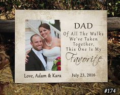 FAV/DAD Father of the Bride Gift Favorite by PhotoFrameCompany