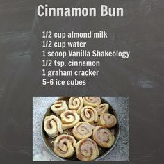Cinnamon Bun Shakeology - My 7 Essentials: SHAKEOLOGY