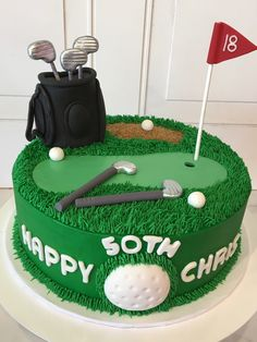 Groom's Cake Gallery Cakes and Cakes for Men by 3 Sweet Girls Cakery (This is an affiliate link) Be sure to look into this outstanding item. Dad Cake, 50th Cake, Birthday Cakes For Men, Cake Birthday, Birthday Gifts, Golf Grooms Cake, Groom Cake, Grooms Party, Golf Themed Cakes
