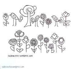 free hand embroidery pattern dots flowers a swashy doodle