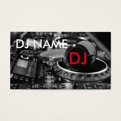 307 best dj business cards images on pinterest dj business cards dj business card reheart Choice Image