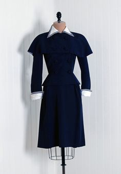 Suit/Ensemble, Junior Accent Original: 1940's, American, rayon gabardine with gingham cotton trim, double-breasted jacket with detachable capelet.