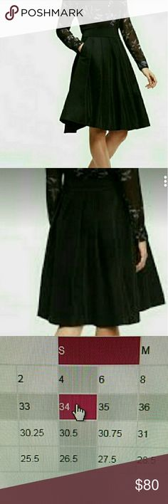 Ann Taylor A line skirt NWT Gorgeous skirt for parties and other special ocassions,fits true to size please see pic 3 for measurements, has pockets on each side. Ann Taylor Skirts A-Line or Full