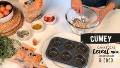 Canasticas de coco con el NUEVO Mix de cereales #CUMEY ¡Otra receta deliciosa para gente real! ¿y tú? ¿te animas a probarla?  Espera pronto el video de como prepararlas   #tasty #cereal #desayuno #happy #avena   Un producto con el sello @pronalce Coco, Breakfast, Grains, Tasty Food Recipes, Oatmeal, Morning Coffee