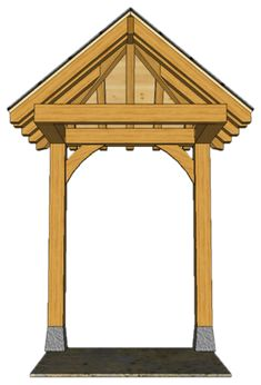 2 POST PORCHES — TIMBER FRAME PORCHES Awning Over Door, Porch Awning, Porch Roof, Door Overhang, House Front Porch, Front Porch Design, Front Deck, Porch Timber, Small Porches
