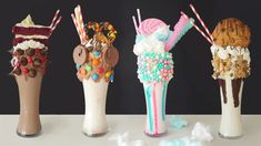 I did not have a spare 2 hours to que up for one of these crazy milkshake… – Kolay yemek Tarifleri Cute Desserts, Delicious Desserts, Yummy Food, Candy Drinks, Yummy Drinks, Crazy Shakes, Yummy Treats, Sweet Treats, Milk Shakes