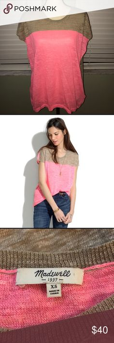 Madewell color block pullover Madewell color block pullover. Excellent like new condition Madewell Tops Tunics