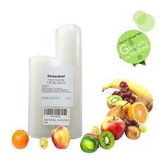 Food Super Vacum Sealer Storage Bags 2 Pack 8x50 Commercial Grade For Food Saver
