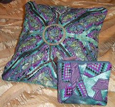 Stitch and Slash pillow and bag - via @Craftsy