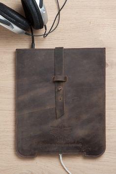 iPad Case brown leather iPad Cover iPad 2/3 Sleeve by EMILISTUDIO, $89.00