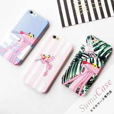 Pink Panther ピンクパンサー キャラクターテーマ ピンク系 かわいい カバー型 PCハードケース iPhone8 iPhone7S iPhone7 iPhone6S/6 Plusカバー