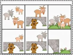 Three Billy Goats Gruff Freebie.  Great picture cards to use for sequencing the story and retelling the main facts.  Print these FREE cards out at:  http://thefabulousfirstgrade-sarah.blogspot.com/2013/10/peek-at-my-week-oops-and-freebie.html