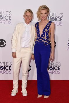 Pin for Later: See All the Stars on the People's Choice Awards Red Carpet! Ellen DeGeneres and Portia de Rossi