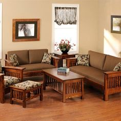 Small Living Spaces Ideas wood living room sofa and table in small modern living room