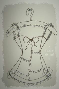 bustier en fil de fer porte bijoux by latelierdesof.com