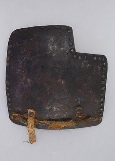 Right Half of Brigandine Breastplate Date: 1400–1450 Culture: Italian Medium: Steel, textile Dimensions: H. 7 1/2 in. (19.1 cm); W. 8 in. (20.3 cm); Wt. 1 lb. 15 oz. (878.8 g)
