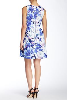 Sleeveless Scuba Fit & Flare Dress by Vince Camuto on @nordstrom_rack