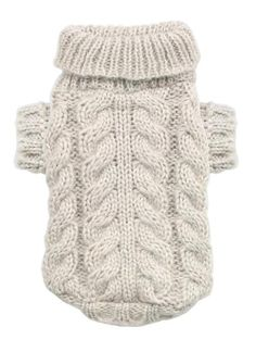 Camel Angora Cable Knit Sweater