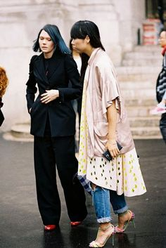 Paris Fashion Week SS 2015....Susie + Katie