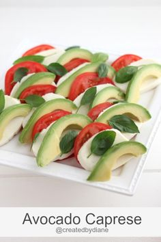 Fire up your grill & bust out the avocados! Avocado Caprese Salad + 10 Easy Idea… Fire up your grill & bust out the avocados! Avocado Caprese Salad + 10 Easy Ideas for your Labor Day BBQ California Avocados Wine Recipes, Cooking Recipes, Caprese Salat, Planning Menu, Healthy Snacks, Healthy Eating, Good Food, Yummy Food, Tasty