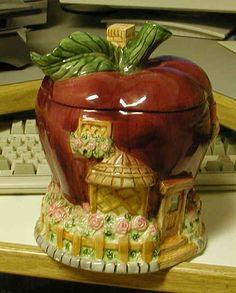 Vintage Micewell Apple House Cookie Jar