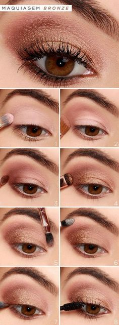 How-To: Rose Gold Eyeshadow Tutorial How-To: Rose Gold Eyeshadow Tutorial . - How-To: Rose Gold Eyeshadow Tutorial How-To: Rose Gold Eyeshadow Tutorial . Rose Gold Eyeshadow, Makeup Eyeshadow, Makeup Brushes, How To Eyeshadow, Bronze Eyeshadow, Eyeshadow Makeup Tutorial, Eyeshadow Steps, Glitter Makeup, Eyebrow Makeup