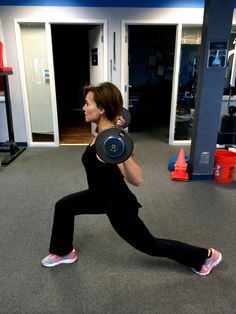 5. Deep lunges with weight bar, really get low in the lunge! 25 lunges 2nd circuit, each circuit 3 times