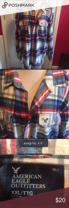 American eagle men's flannel sz XXL Great AE men's flannel sz XXL athletic fit.  Great condition!! American Eagle Outfitters Shirts Casual Button Down Shirts