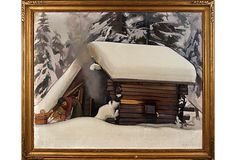Snow Covered Cabin on OneKingsLane.com