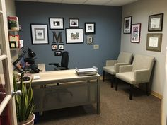 [Office Tour] Michael's Calm, Contemporary Workspace // Office Tour // National Business Furniture Office Ideas For Work, Small Office Decor, Business Office Decor, Office Organization At Work, Home Office Decor, Business Furniture, Professional Office Decor, Corporate Office Decor, Man Office