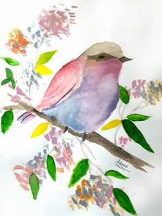My arts- Watercolor bird by Ariha