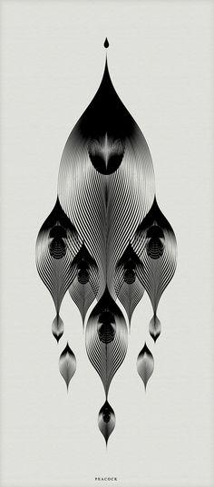 Animals Drawn with Moiré Patterns pattern illustration animals