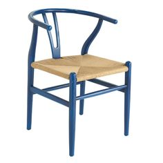 hans wegner silla azul pavo real