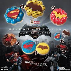 #Batman v #Superman chez mister donut #DcComics