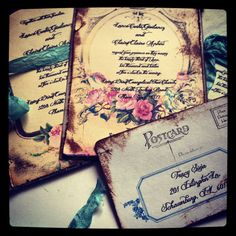 Wedding Invitation Marie Antoinette Wedding Vintage by ShabbyScrap, $5.00  If only they weren't $5.00 a person....