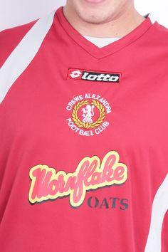 Lotto Mens L Sport Shirt Crewe Alexandra Football Club Red