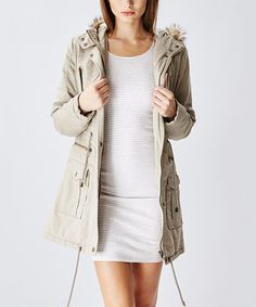 Barley Faux Fur-Hood Double-Closure Anorak by Glamsia #zulily #zulilyfinds