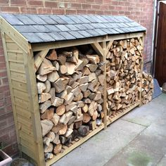 Firewood Shed, Firewood Storage, Wood Logs, Fire Wood, Log Store, Slate Roof, Log Burner, Outdoor Storage, Planer